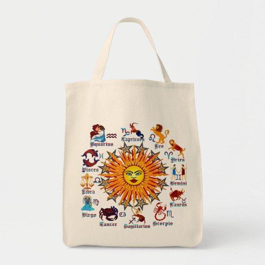 Zodiac-Signs-All-V-1 Tote Bag