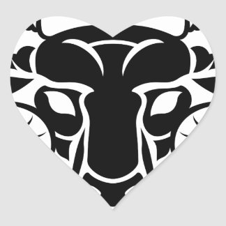 Zodiac Signs Aries Icon Heart Sticker