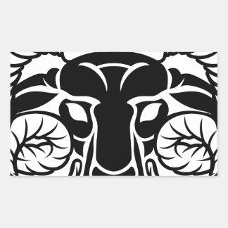 Zodiac Signs Aries Icon Rectangular Sticker