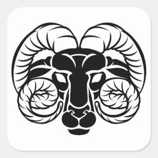 Zodiac Signs Aries Icon Square Sticker