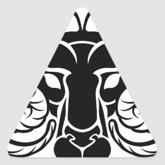 Zodiac Signs Aries Icon Triangle Sticker