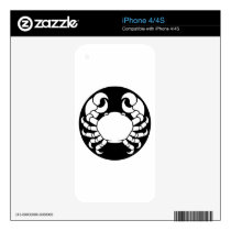 Zodiac Signs Cancer Crab Skins For iPhone 4S