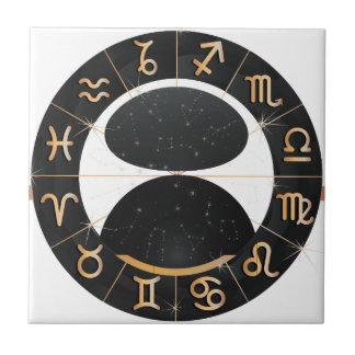 Ceramic tile signs