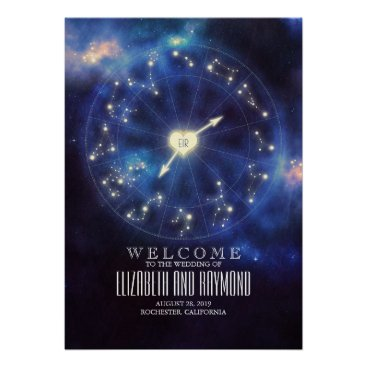 Wedding Themed Zodiac Signs | Constellation Wedding Welcome Sign