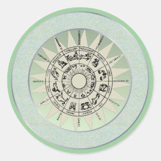 Zodiac Signs Gift Idea Classic Round Sticker