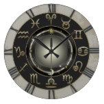 Zodiac Signs Large Clock