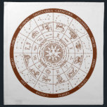 "Zodiac signs napkin<br><div class=""desc"">Follow the stars,  all the signs of the Zodiac. An ideal birthday gift.</div>"