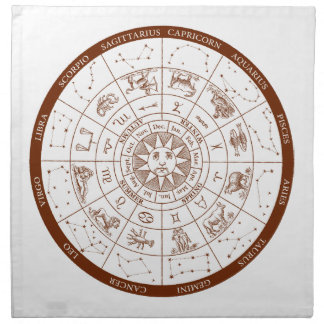Zodiac signs napkin
