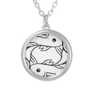 Zodiac Signs Pisces Fish Silver Plated Necklace