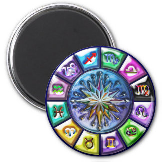 Zodiac signs Print 2 Inch Round Magnet