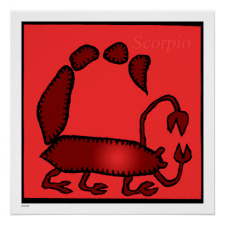 Zodiac Signs Scorpio Birthday Perfect Poster 20x20