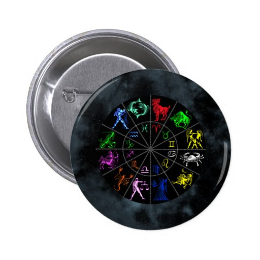 Zodiac signs together 2 inch round button