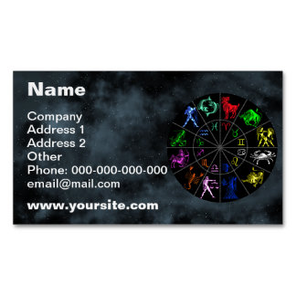 Zodiac signs together business card magnet