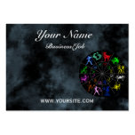 Zodiac signs together business card templates