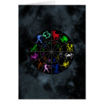 Zodiac signs together card