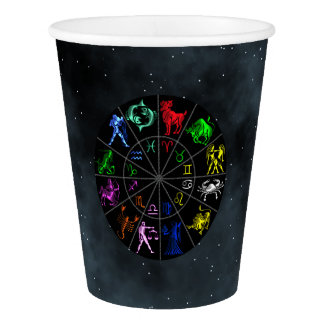 Zodiac signs together paper cup