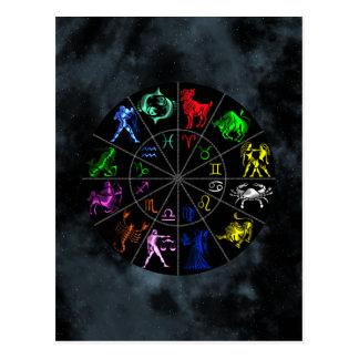 Zodiac signs together postcards