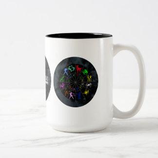 Zodiac signs together Two-Tone coffee mug
