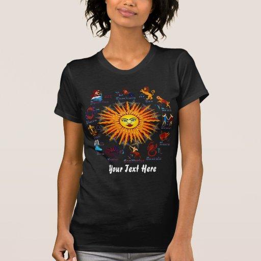 Zodiac Signs Women All V-1 T-shirts