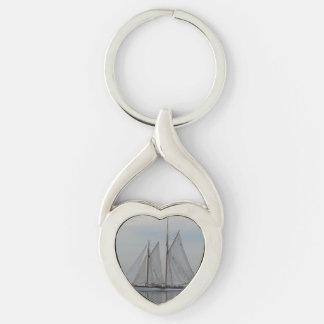 Zodiac Silver-Colored Heart-Shaped Metal Keychain