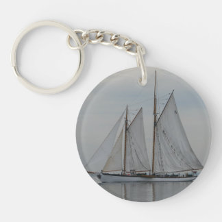 Zodiac Single-Sided Round Acrylic Keychain