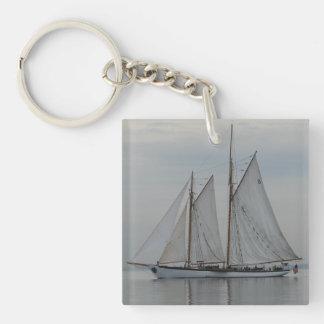 Zodiac Single-Sided Square Acrylic Keychain