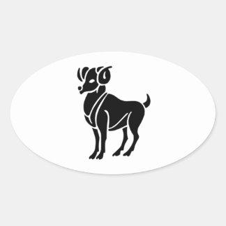 Zodiac Style: Aries Oval Sticker