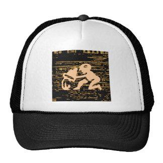 Zodiac Symbols on Gold Sparkle Night Sky Trucker Hat