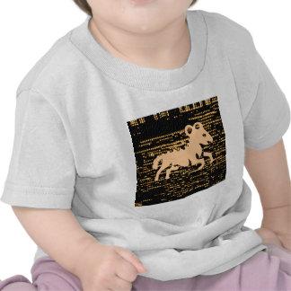 Zodiac Symbols on Gold Sparkle Night Sky Shirts