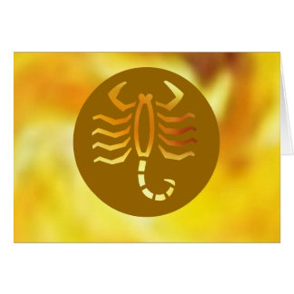 Zodiac Symbols on Golden Frames Card