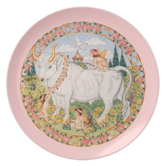 Zodiac Taurus - Customize it! Dinner Plate
