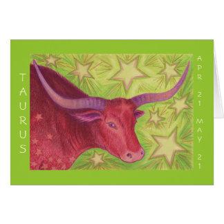 Zodiac Taurus 'Happy Birthday' greeting card