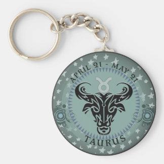 Zodiac Taurus Keychain