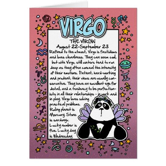 Zodiac - Virgo Fun Facts Card