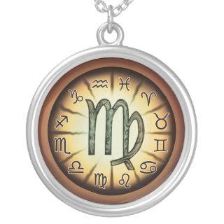 Zodiac Virgo symbol Necklace