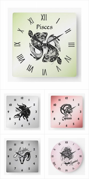Zodiac Wall Clocks