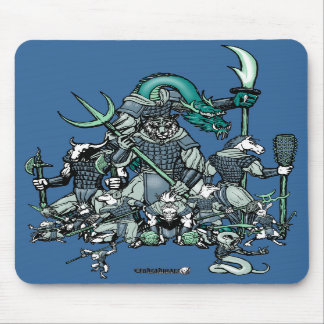 Zodiac Warriors Mousepad