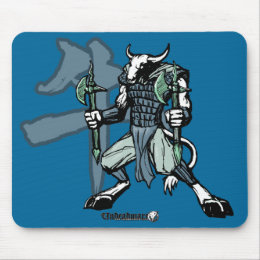 Zodiac Warriors: Year of the Ox Mouse Pad