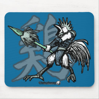 Zodiac Warriors: Year of the Rooster Mouse Pad