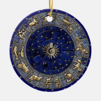Zodiac Wheel Ceramic Ornament