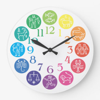 Zodiac Wheels Wall Clocks Zazzle