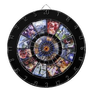 Zodiac Wheel Custom Game Dartboards
