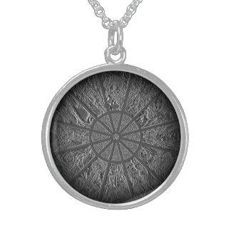 Zodiac Wheel Embossed Locket