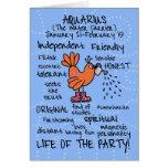 zodiac word cards - aquarius