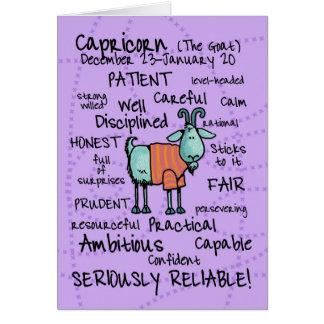 zodiac word cards - capricorn