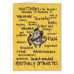 zodiac word cards - sagittarius