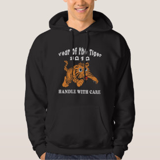 Zodiac Year of The Tiger 2010 Baby Tiger Black Hoody
