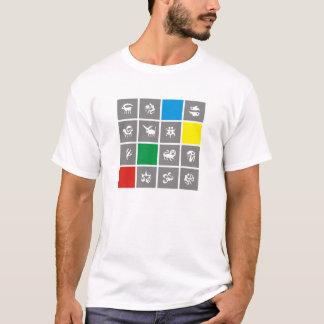 Zodiac Zodiak of squares four colors T-Shirt