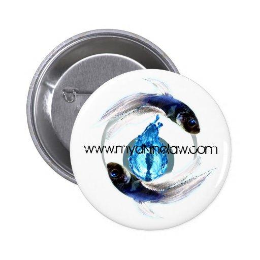 Zodiacal Pisces Button