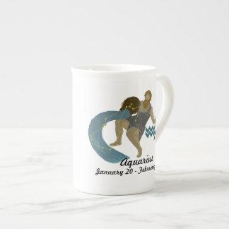 Zodiaco-Acuario Taza De Porcelana